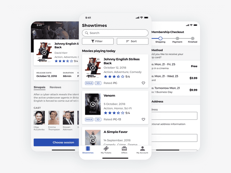 A case study on improving the experience of searching, finding and booking movies in a cinema, using a User-Centered Design process.